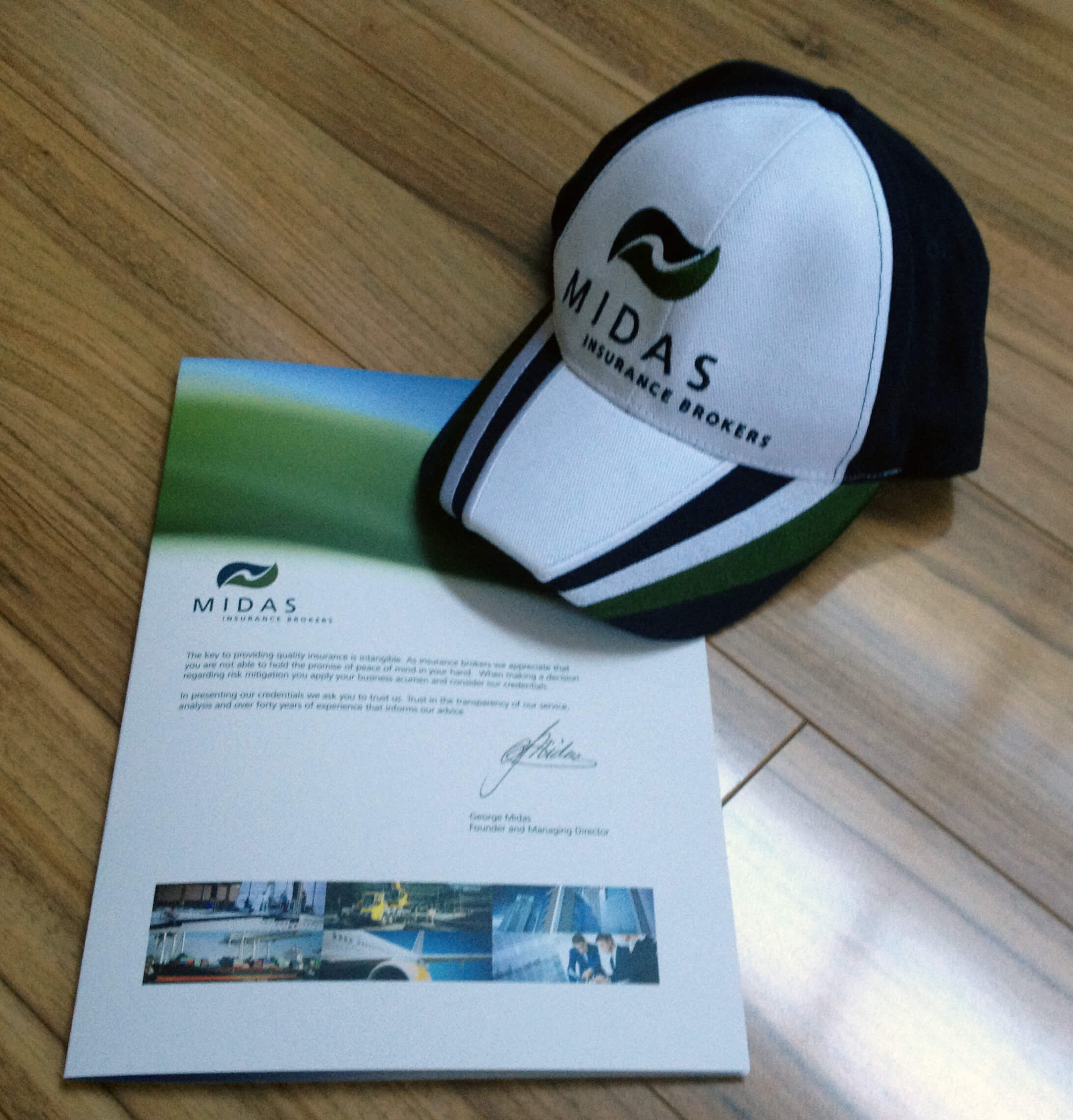 Midas Insurance Brochure & Cap