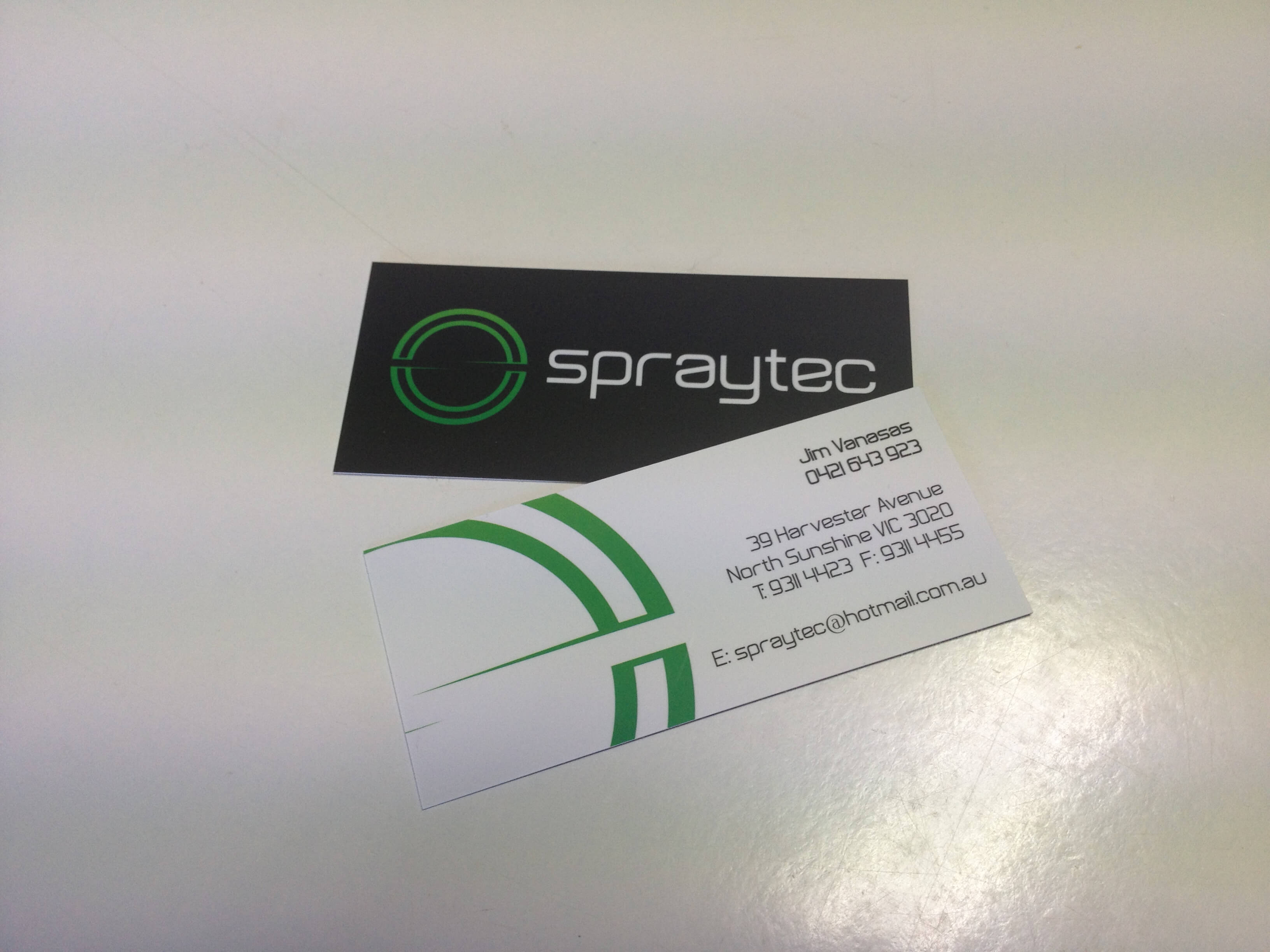 Spraytec Business Cards