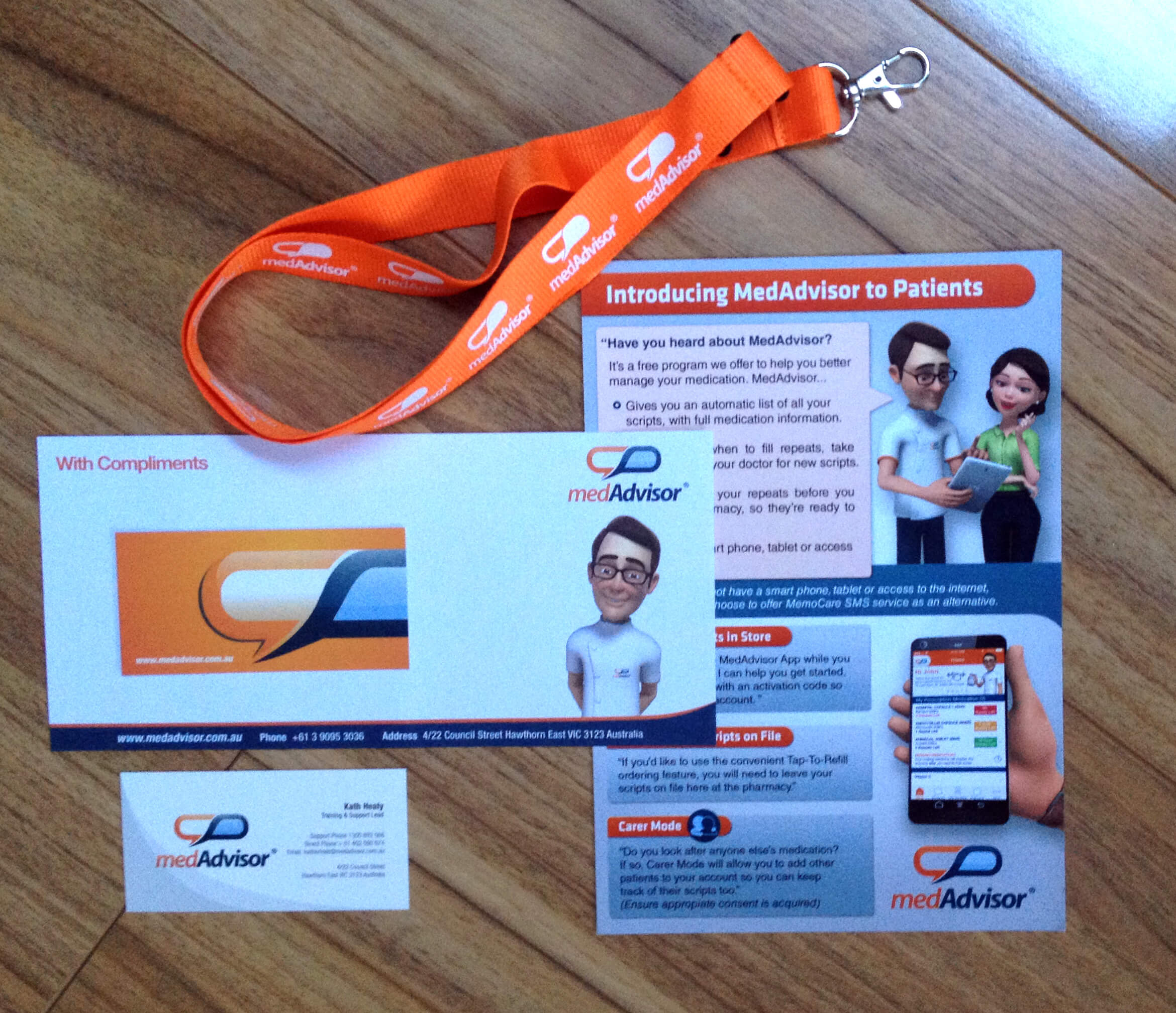 medAdvisor Stationary & Lanyards